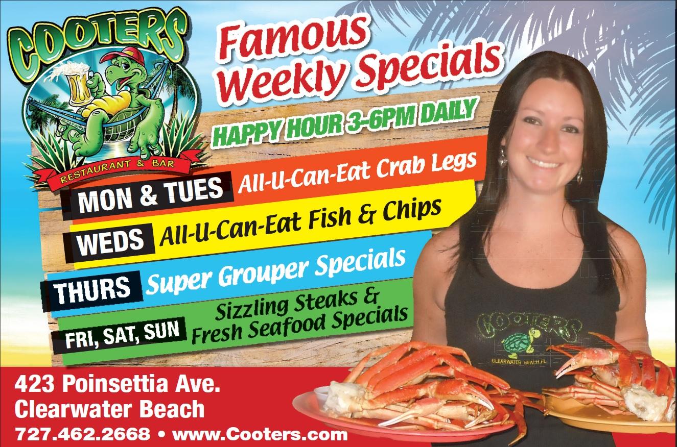 Cooters Is Home Of The All U Can Eat Crab Legs Special