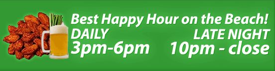 Happy Hour 3pm to 6pm Daily